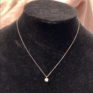 Jewelry - STERLING SILVER NECKLACE WITH SM CZ CHARM